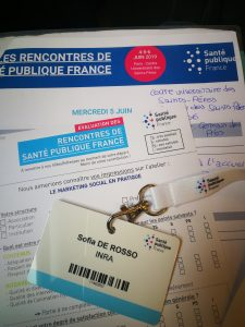 Rencontres de Santé publique France in June 2019 (conferences of Public Health)