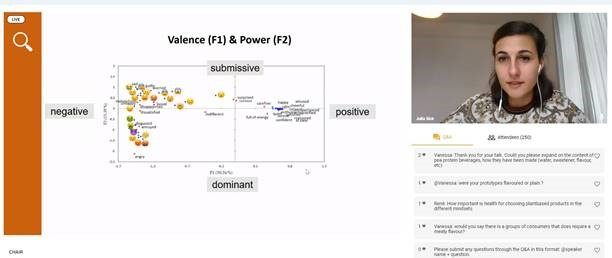 """Julia Sick received the Pieter Punter Award. She presented on childrens understanding of food related emojis: """"Development of an emoji-based self-report measurement tool to measure emotions elicited by foods in pre-adolescents"""""""